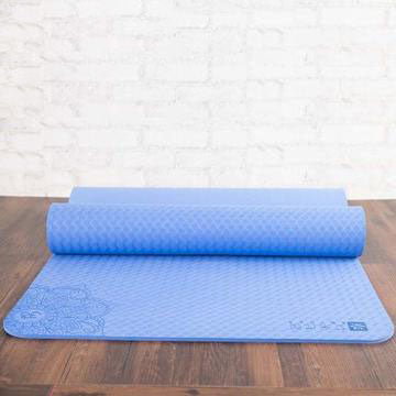 TPE Yoga Mat 6mm for Fitness Gymnastics Exercise with Yoga Bag - yogashopper
