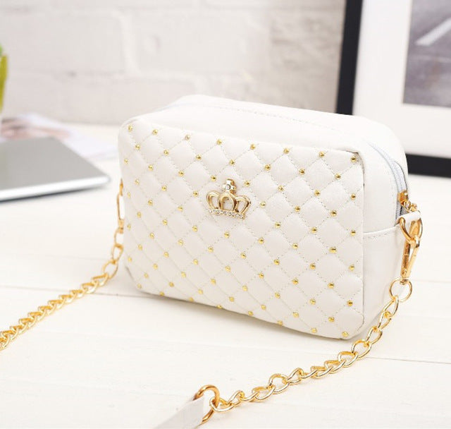 2018 Summer Fashion Rivet Chain Shoulder Bag for Women - yogashopper