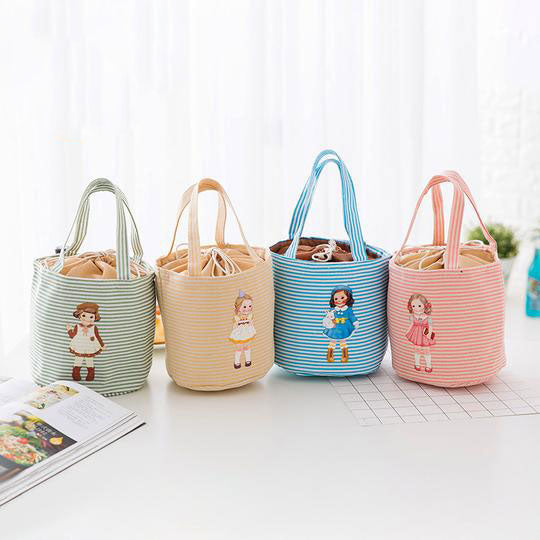 Cute Little Girl Pattern Thermal Cooler Bag Insulated Lunch Bags - yogashopper