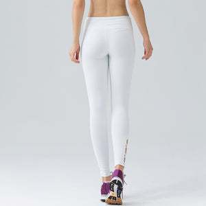 White Dancing Yoga Pants/Skins with Stylish Binding for Women - yogashopper