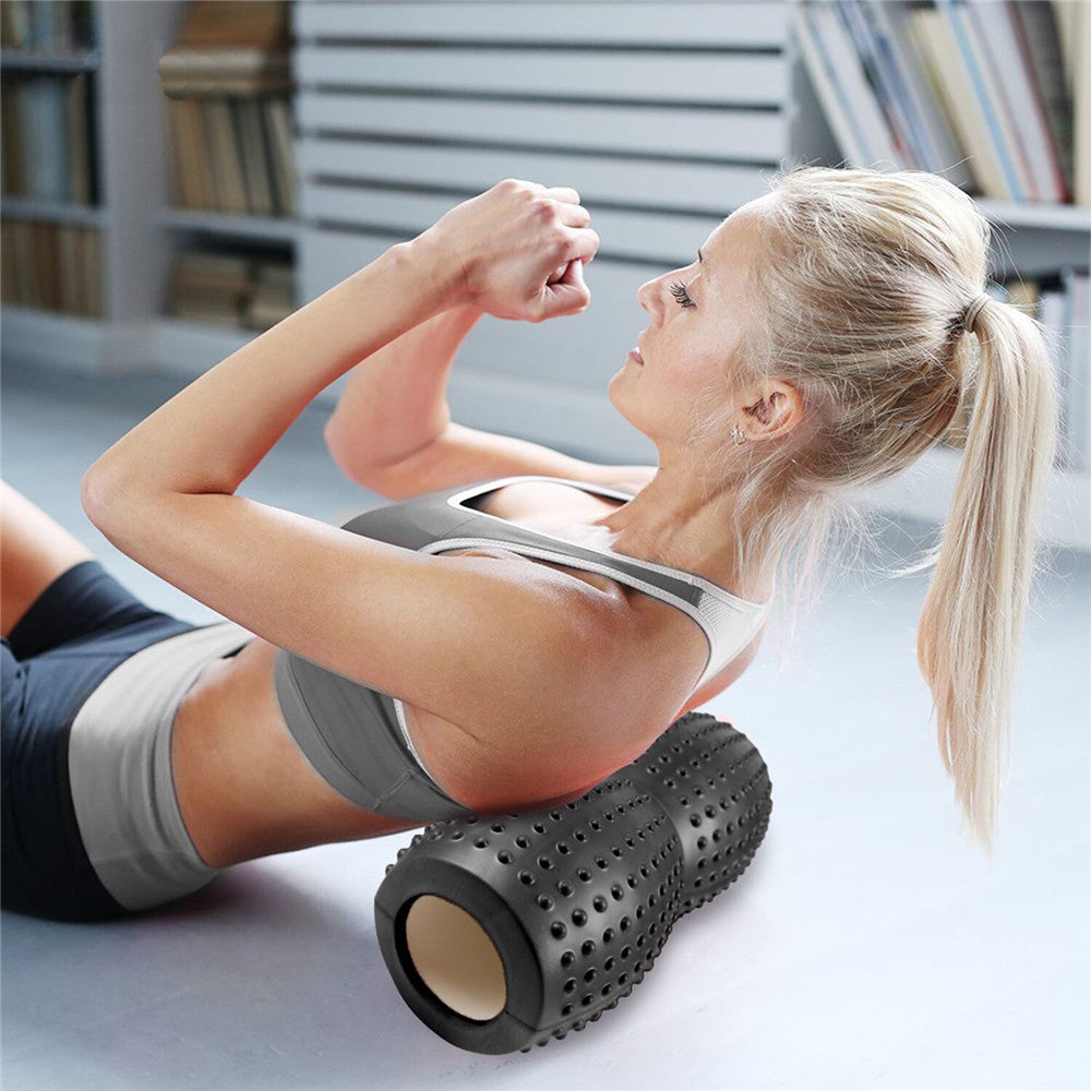 EVA Peanut Foam Massage Yoga Roller for Pilates Tight Muscles Physiotherapy Rehab - yogashopper