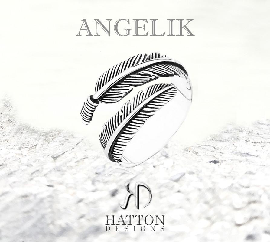Hatton Designs 'ANGELIK' 925 Silver Antique Ring