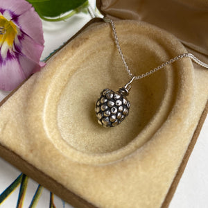 Sterling Silver Berry Necklace
