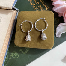 Load image into Gallery viewer, Sterling Silver Poppy Seed Pod Hoop Earrings