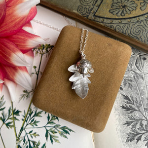 Sterling Silver Acorn and Leaf Necklace