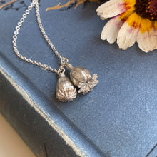 Load image into Gallery viewer, Sterling Silver Double Poppy Seed Pod Necklace