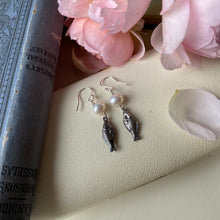 Load image into Gallery viewer, Sterling Silver Fish Pearl Earrings