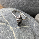 Sterling silver spiral shell stacking ring