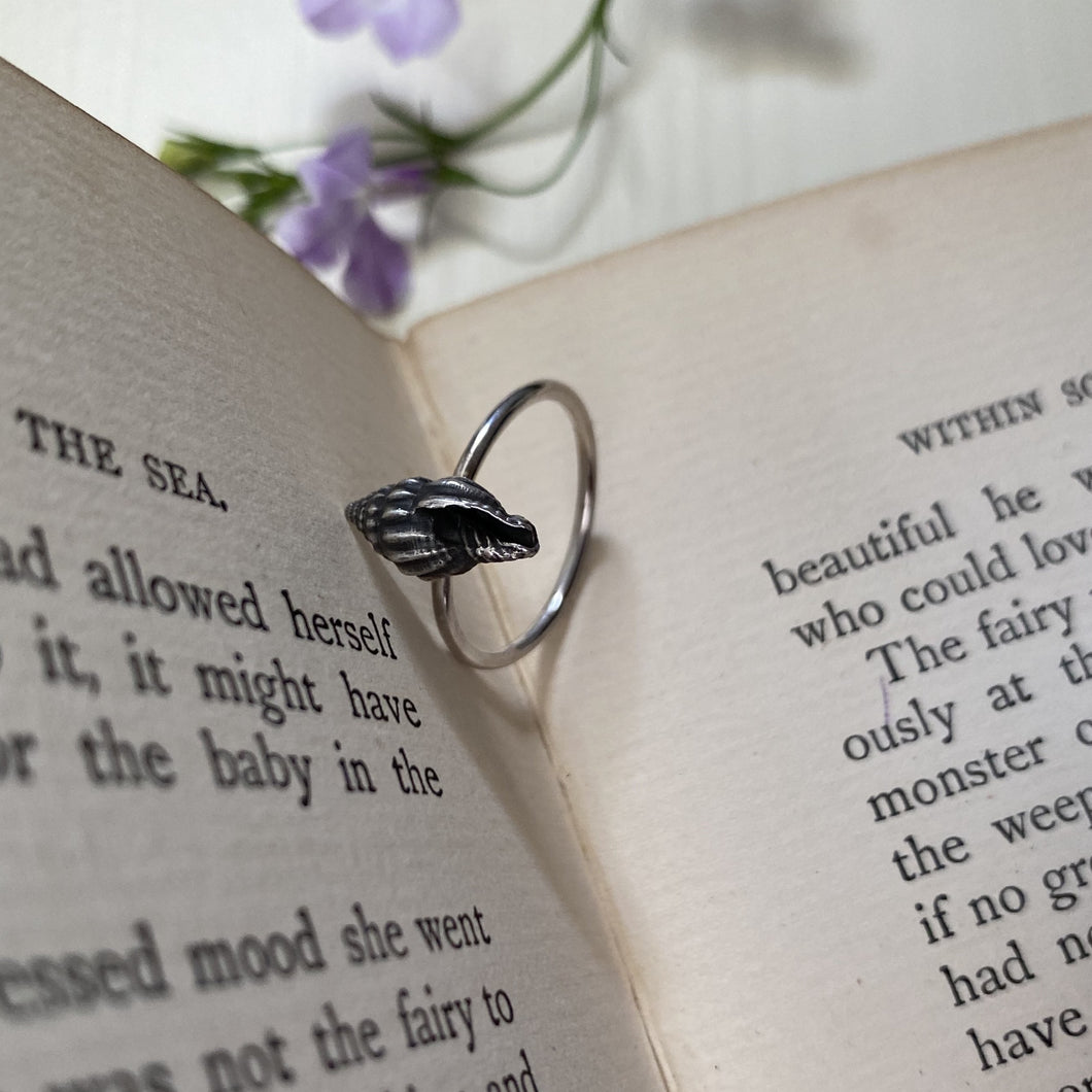 Sterling Silver Spiral Shell Ring
