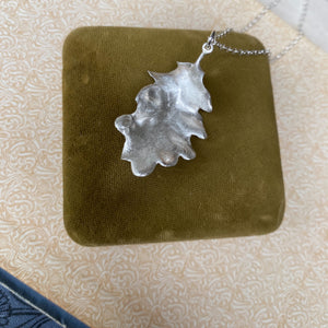 Sterling Silver Oak Leaf Necklace