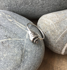 Sterling Silver Fossil Shell Ring