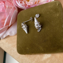 Load image into Gallery viewer, Sterling silver cone shell stud earrings