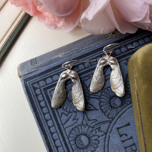 Sterling Silver Mini Double Sycamore Seed Earrings
