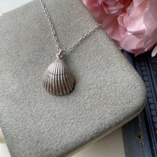 Load image into Gallery viewer, Sterling Silver Cockle Shell Necklace