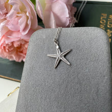 Load image into Gallery viewer, Sterling Silver Mini Starfish Necklace