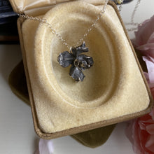 Load image into Gallery viewer, Sterling silver flower bud pendant