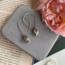 Load image into Gallery viewer, Sterling Silver Large Seed Pod Earrings