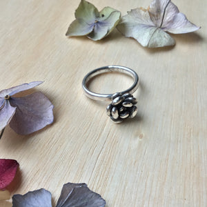 Sterling silver succulent/plant ring