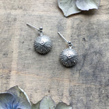 Sterling silver sea urchin earrings