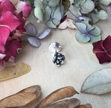Sterling silver succulent pin