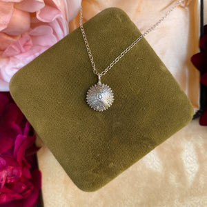 Sterling Silver Small Sea Urchin Necklace