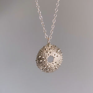 Sterling Silver Large Sea Urchin Necklace