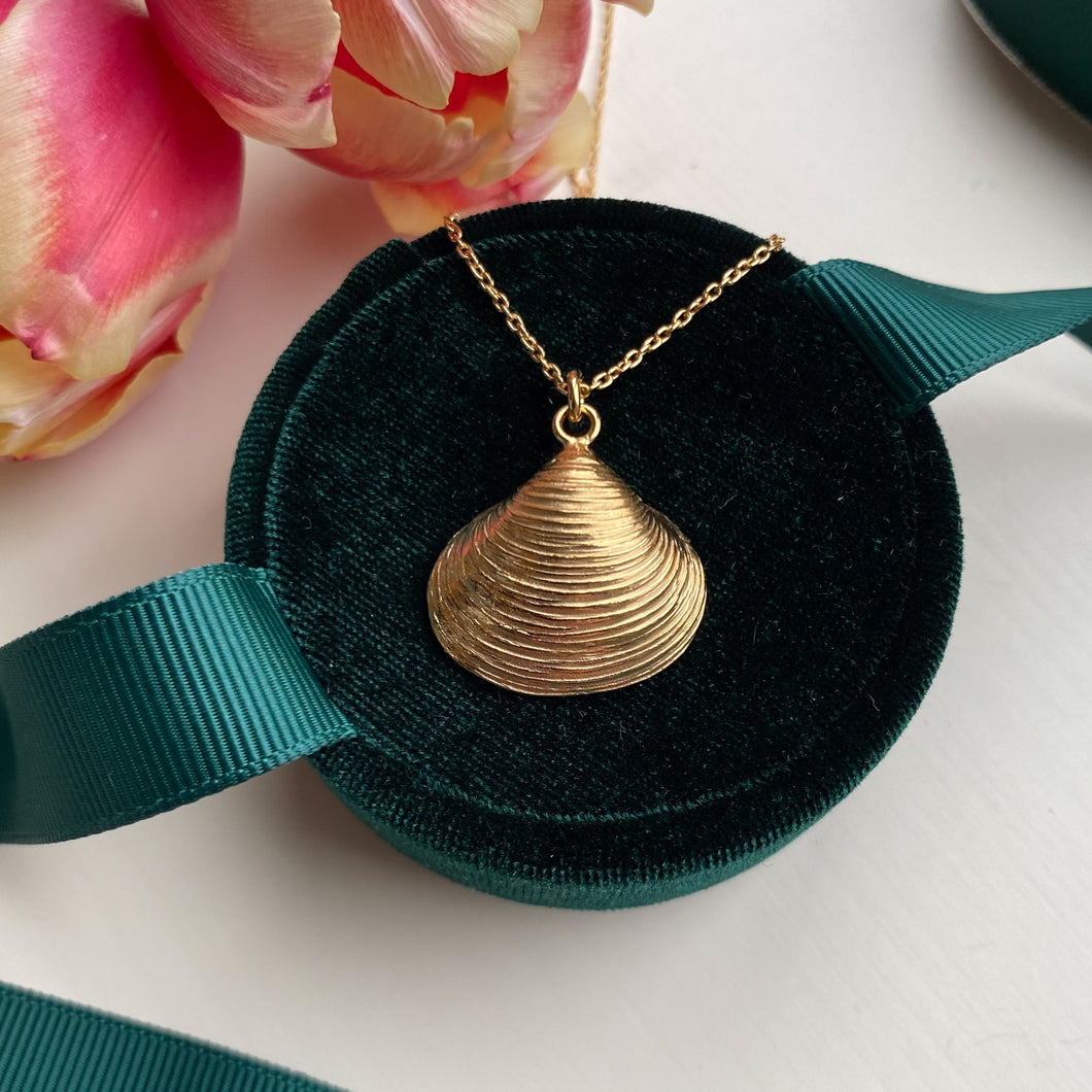 Gold Plated Venus Shell Necklace
