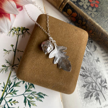Load image into Gallery viewer, Sterling Silver Acorn and Leaf Necklace