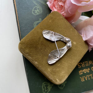 Sterling Silver Double Sycamore Seed Brooch