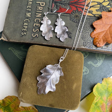Load image into Gallery viewer, Sterling Silver Oak Leaf Necklace