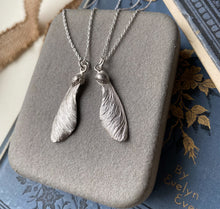 Load image into Gallery viewer, Sterling Silver Sycamore Seeds Gift Necklaces