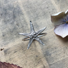 Load image into Gallery viewer, Sterling Silver Starfish Ring