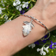 Load image into Gallery viewer, Sterling Silver Leaf Bangle