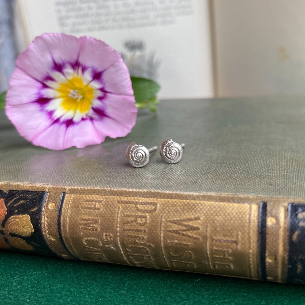 Sterling Silver Mini Shell Stud Earrings