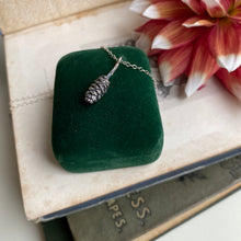 Load image into Gallery viewer, Sterling Silver Pine Cone Necklace
