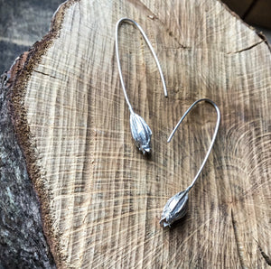 Sterling Silver small seed pod earrings