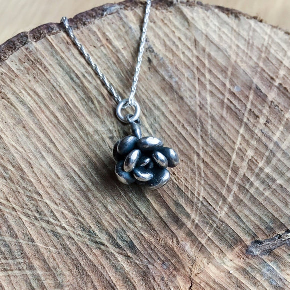 Sterling silver succulent pendant