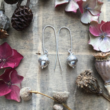 Load image into Gallery viewer, Sterling Silver Acorn Earrings
