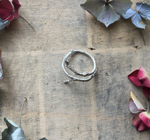 Sterling Silver Twig Wrap Ring