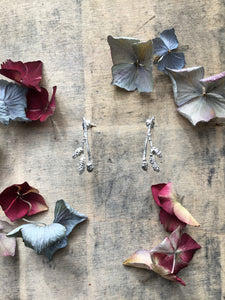 Sterling Silver Catkin Flower Earrings