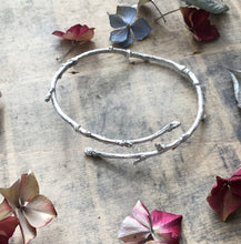 Load image into Gallery viewer, Sterling silver twig bangle