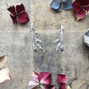 Sterling silver Catkin earrings