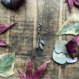 Sterling silver catkin necklace