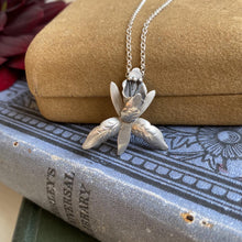 Load image into Gallery viewer, Sterling Silver Orchid Necklace