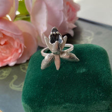 Load image into Gallery viewer, Sterling Silver Orchid Ring