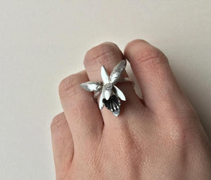 Sterling Silver Orchid Ring