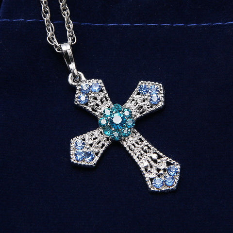 Image of Kruisketting met diamanten - Csieraden