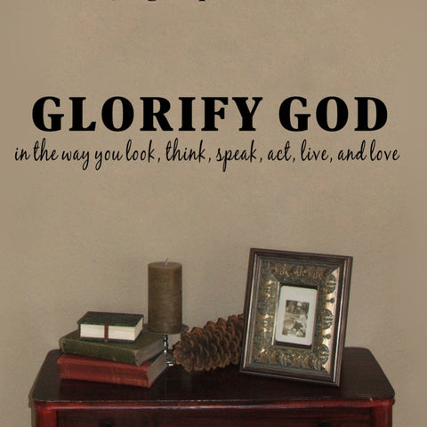 Glorify God muur sticker 11x56cm - Csieraden