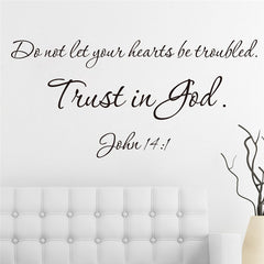 Trust in God muur sticker 57X27/57x21cm