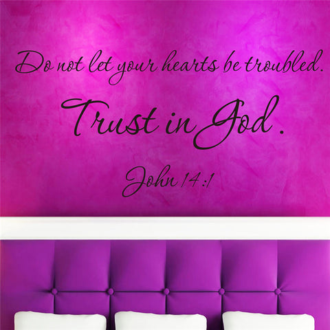 Image of Trust in God muur sticker 57X27/57x21cm - Csieraden